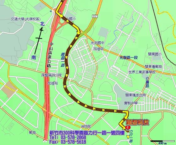 Map Of Incentia Taiwan Office.